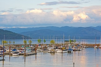 Sandpoint, Harbor, Sunset
