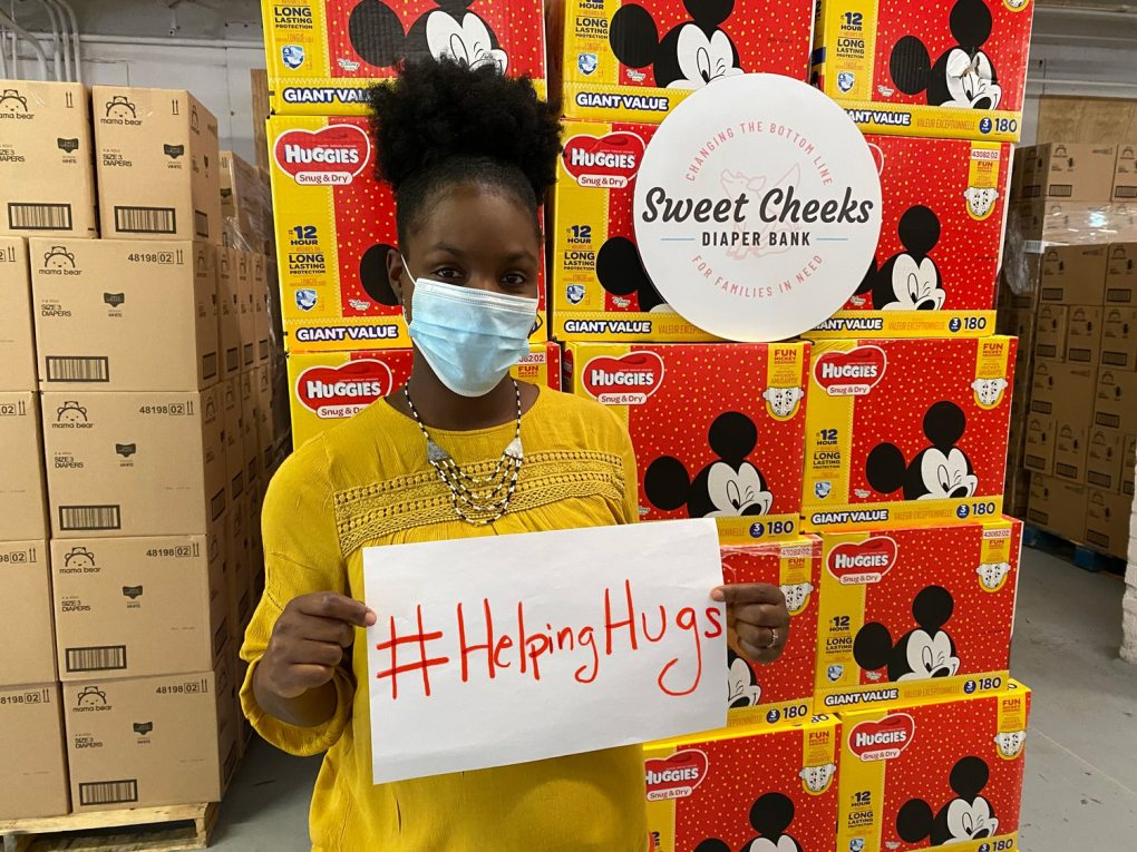Huggies will match $1 for $1 donations made to Sweet Cheeks Diaper Bank* up to $25,000.