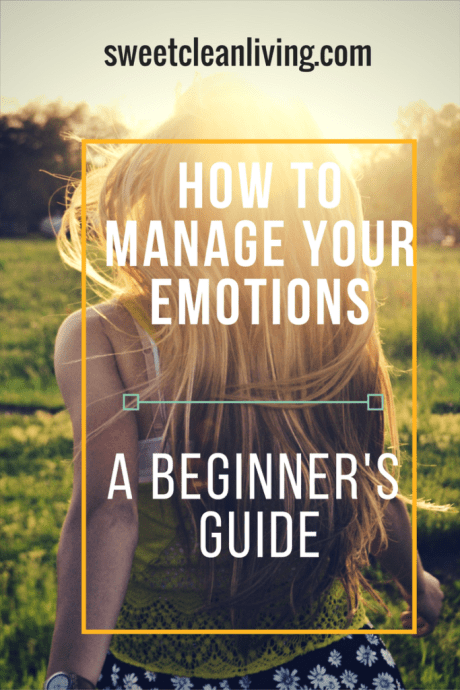 How to Manage Your Emotions | Sweet Clean Living