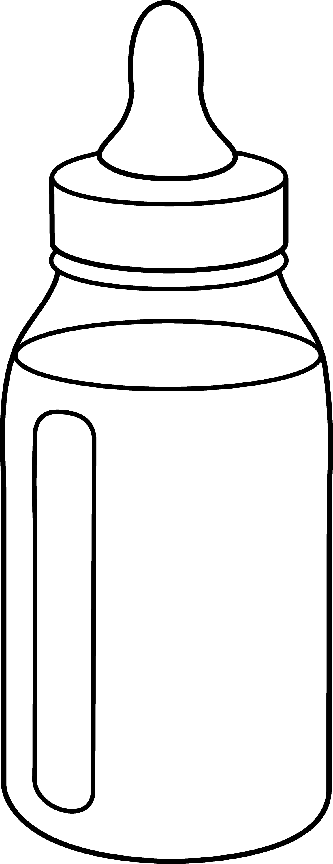 Baby Bottle Line Art