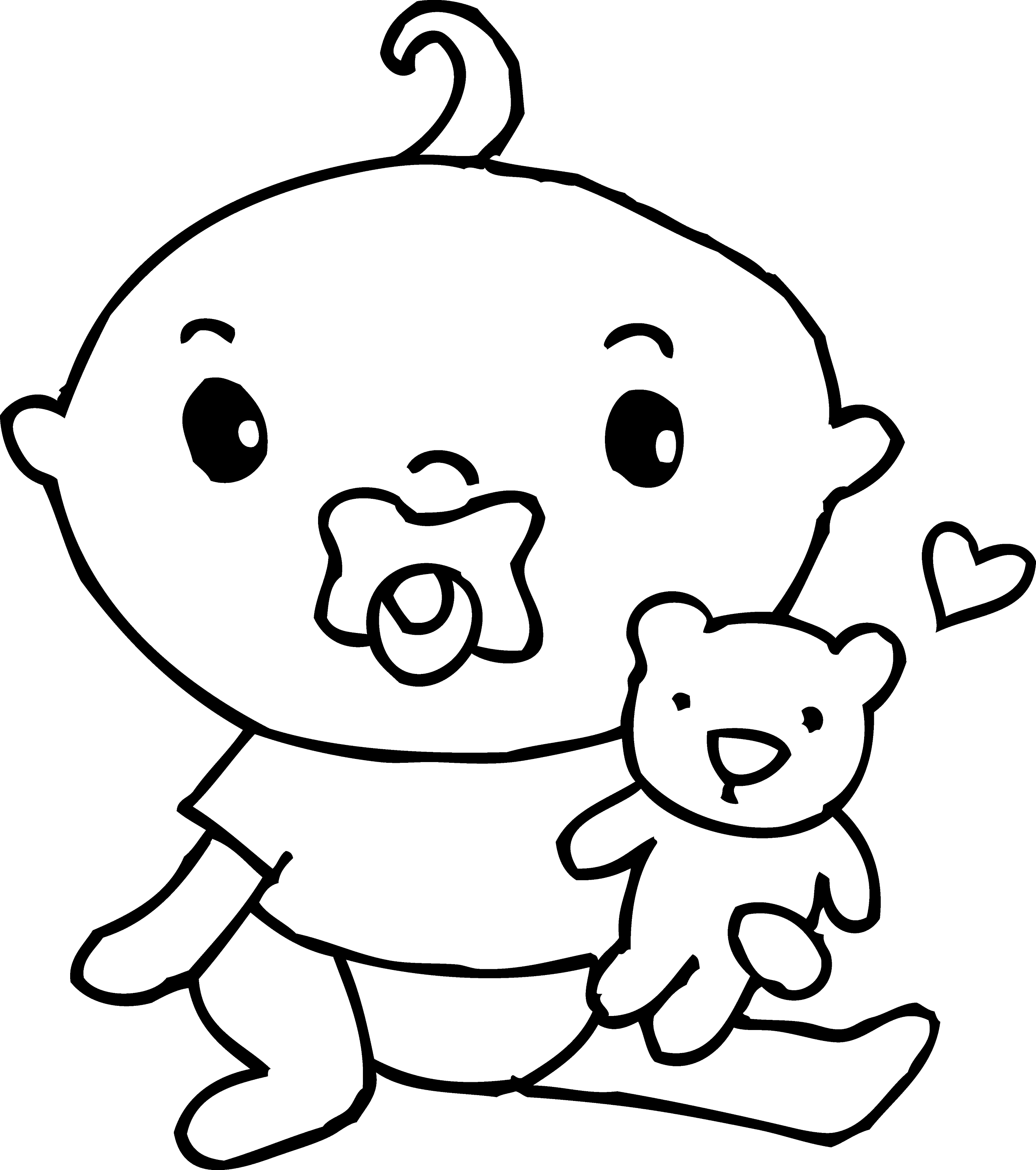 Cute Baby Boy Coloring Page