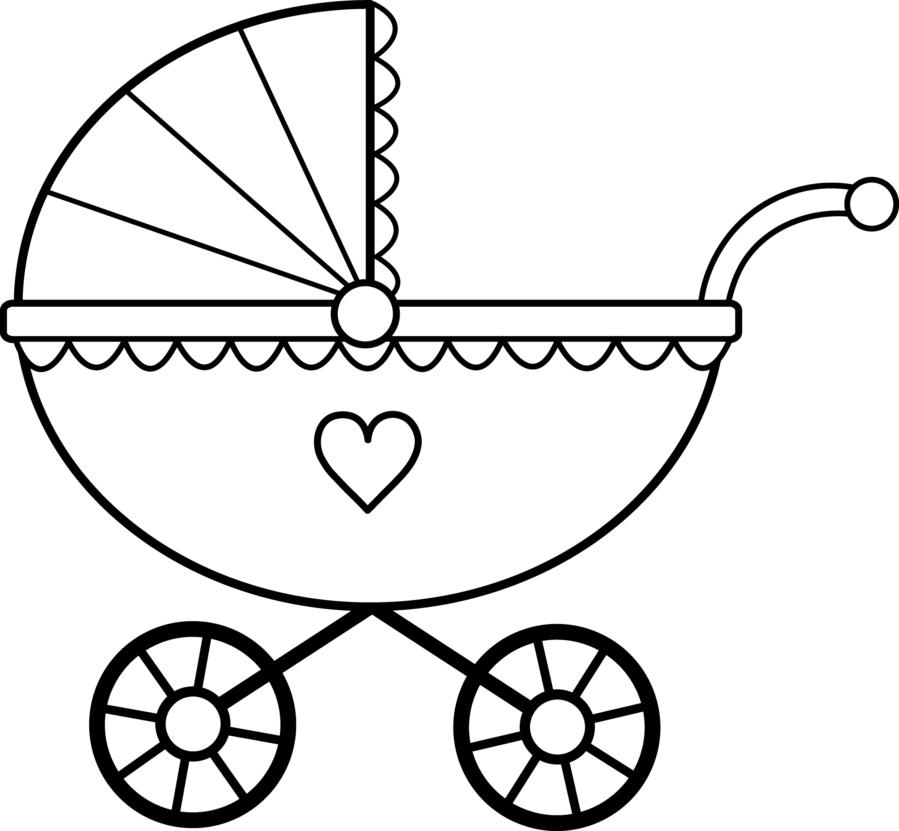 Baby Carriage Line Art