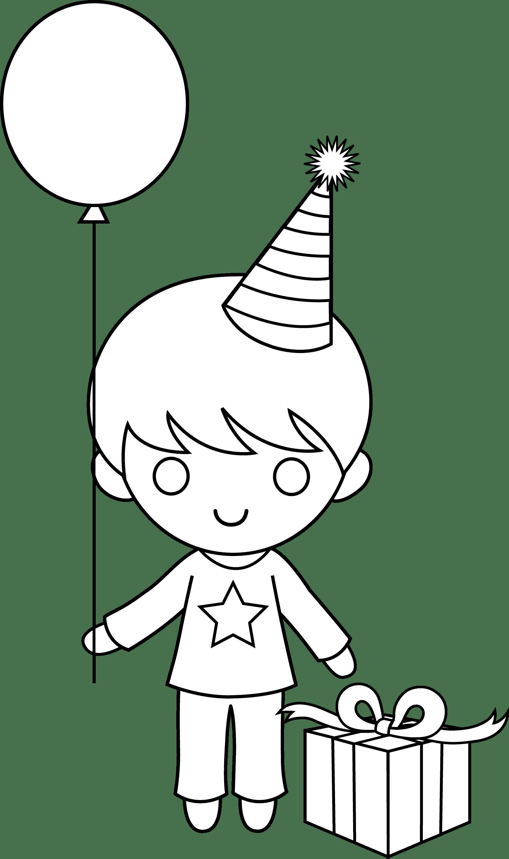 Birthday Boy Coloring Page
