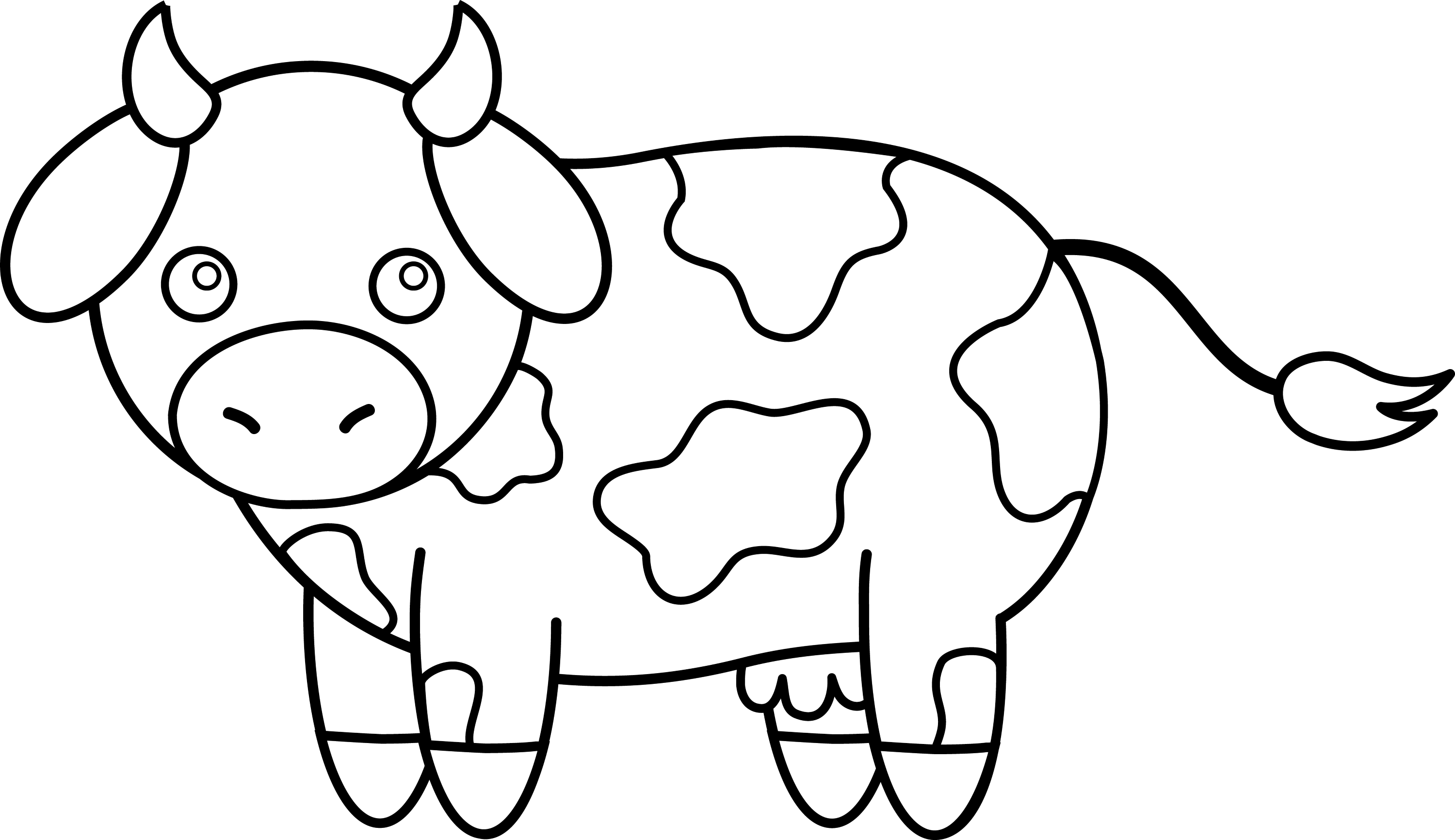 Colorable Little Cow