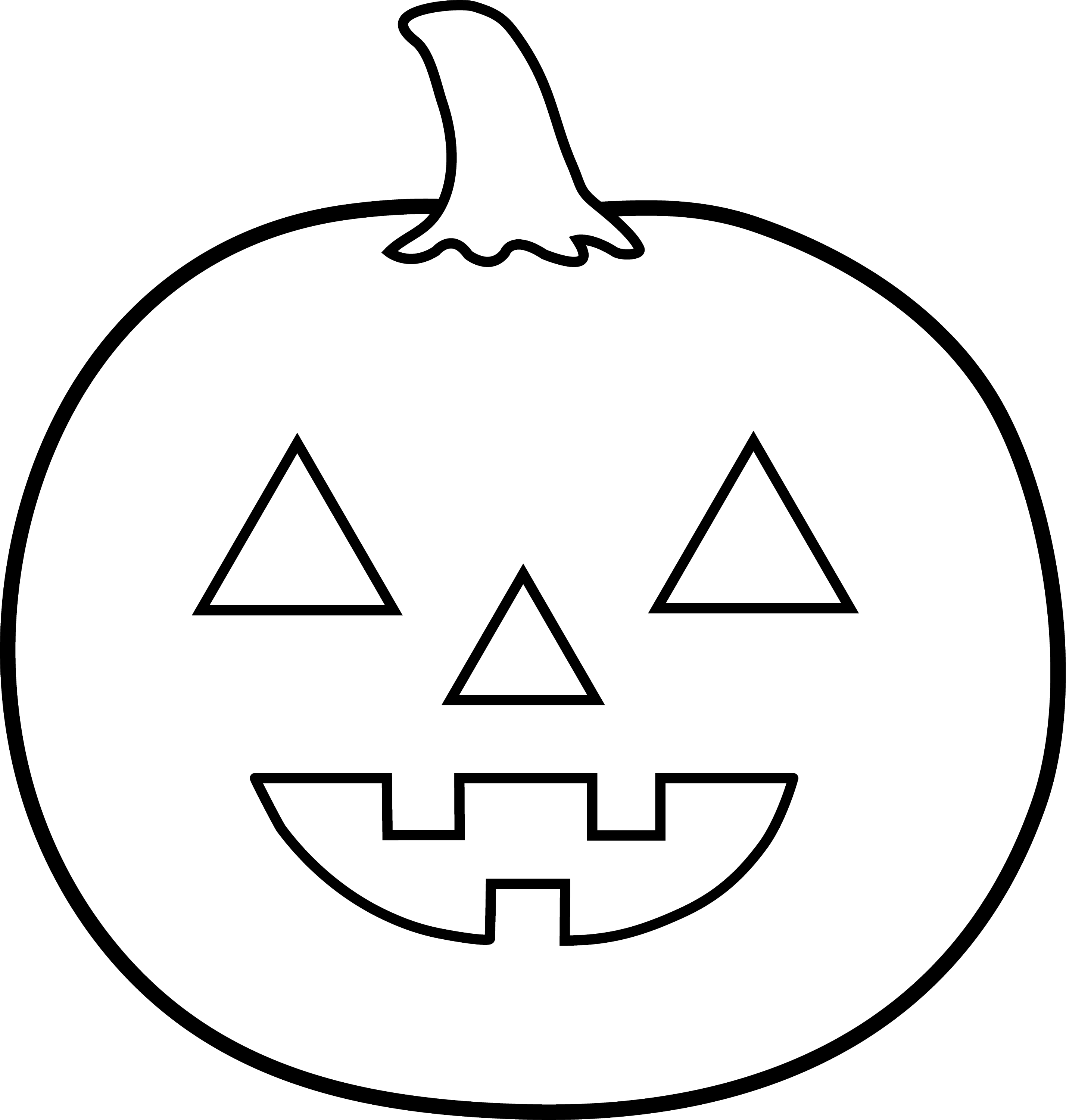 Halloween Jack O Lantern For Coloring