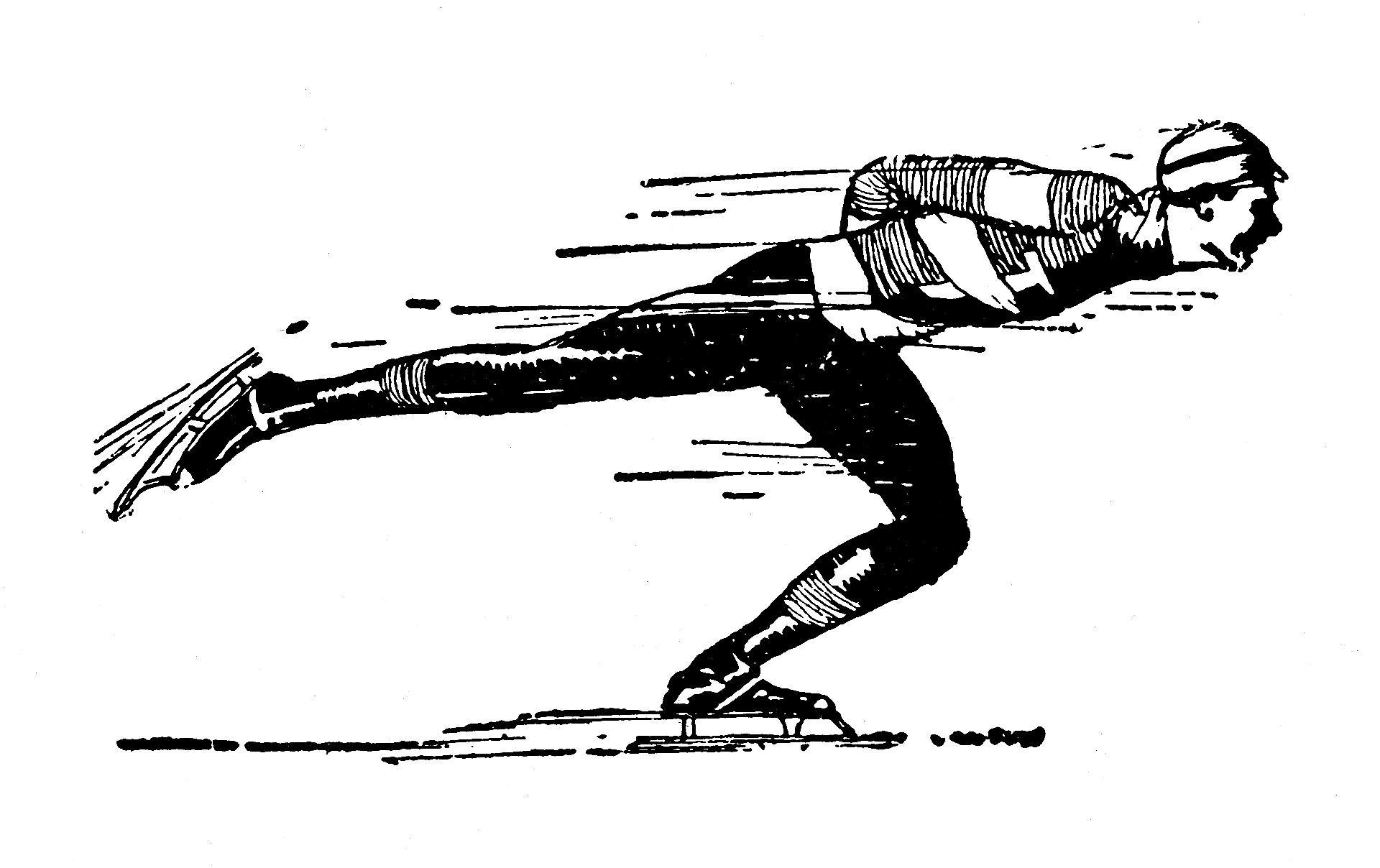 Ice Skating Public Domain Clipart