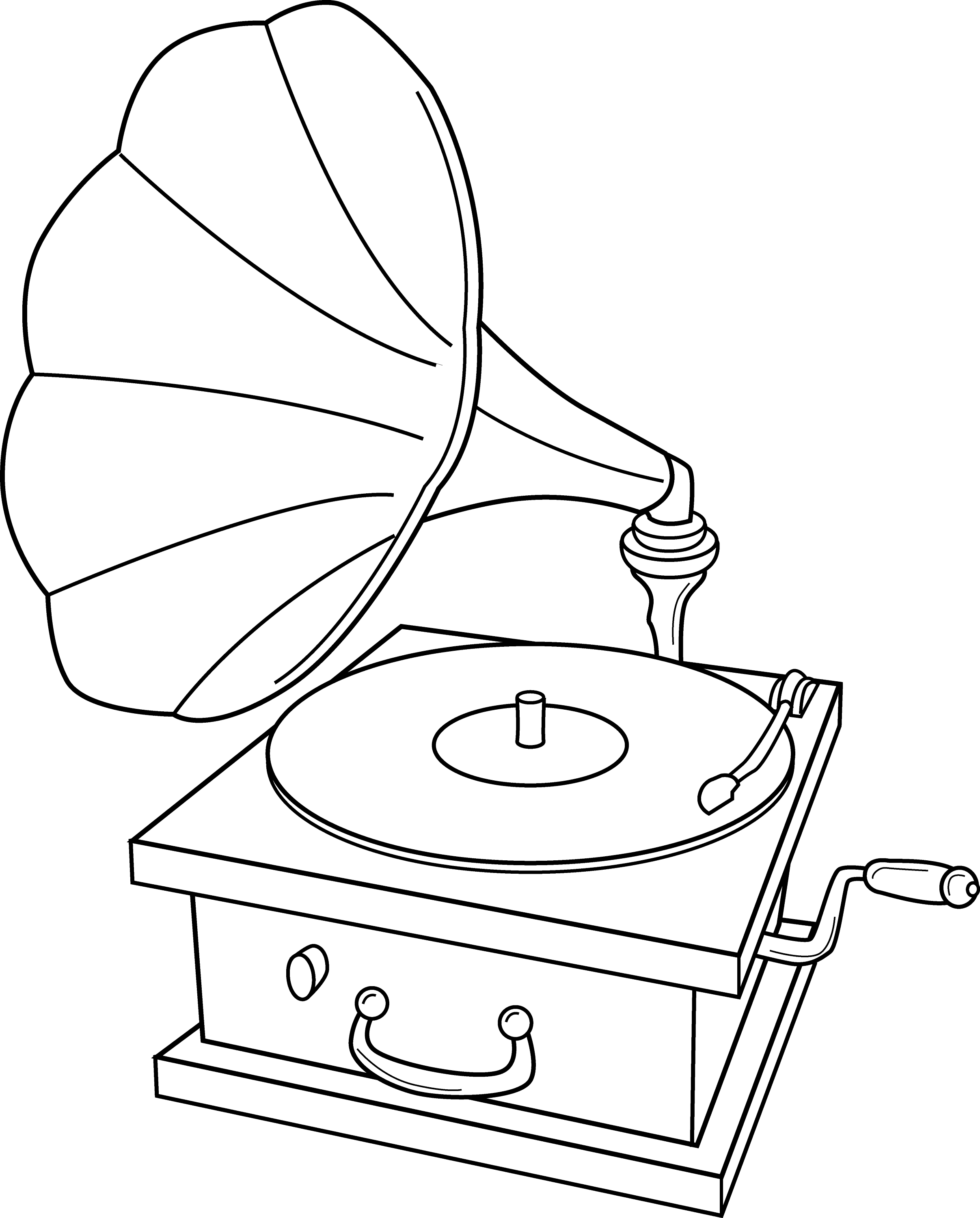 Record Player Coloring Page