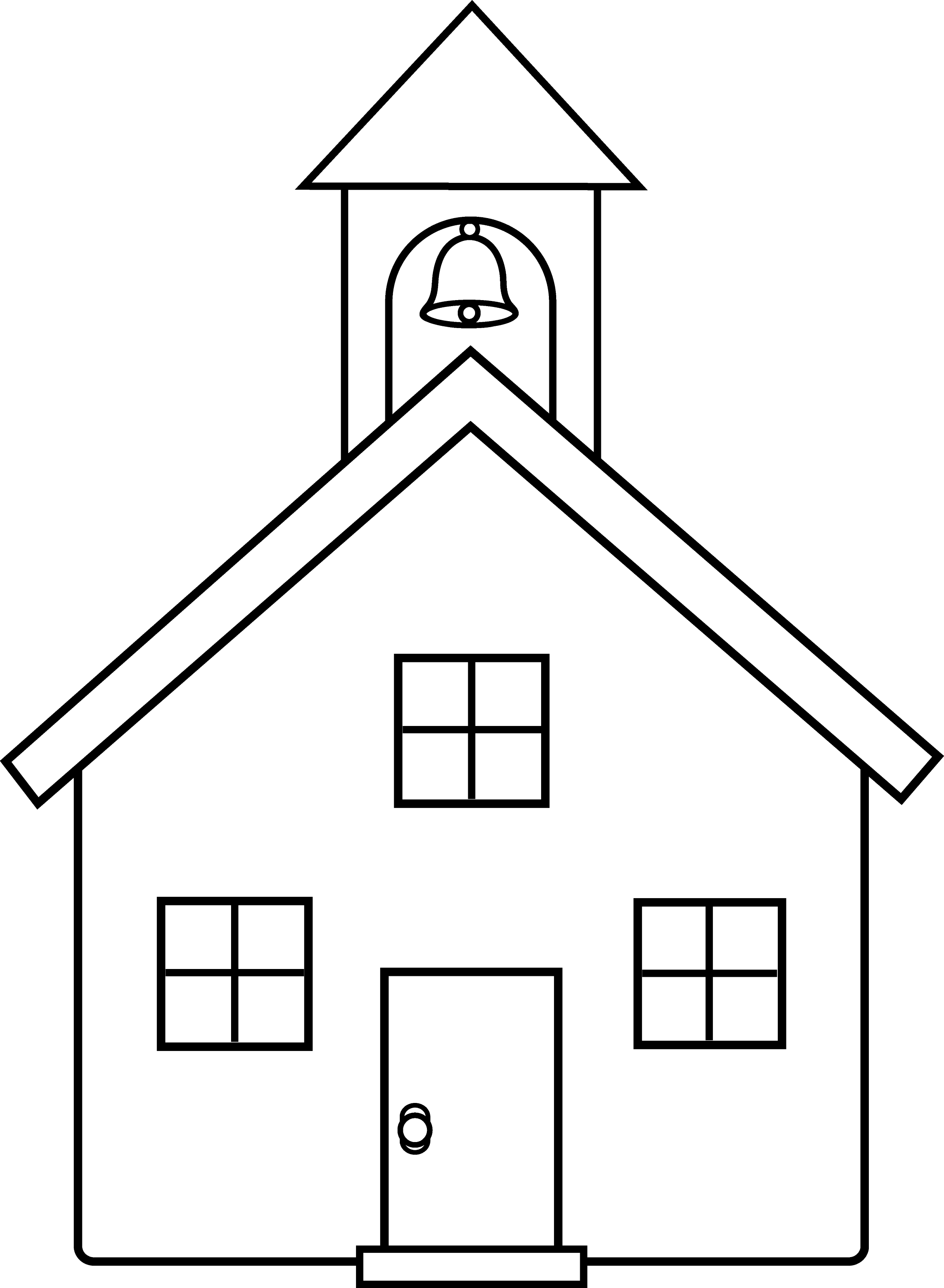 School House Line Art