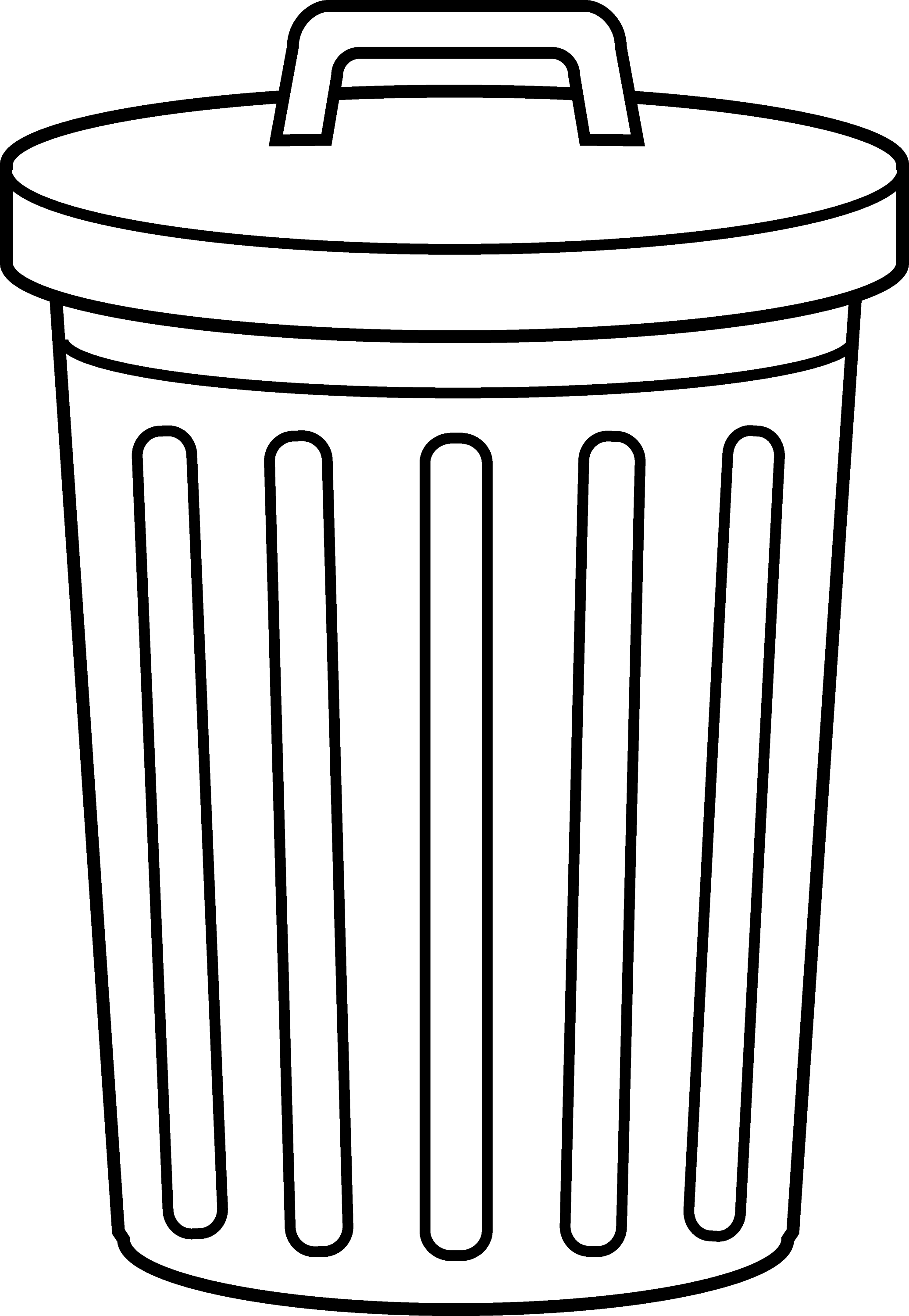 Garbage Can Line Art