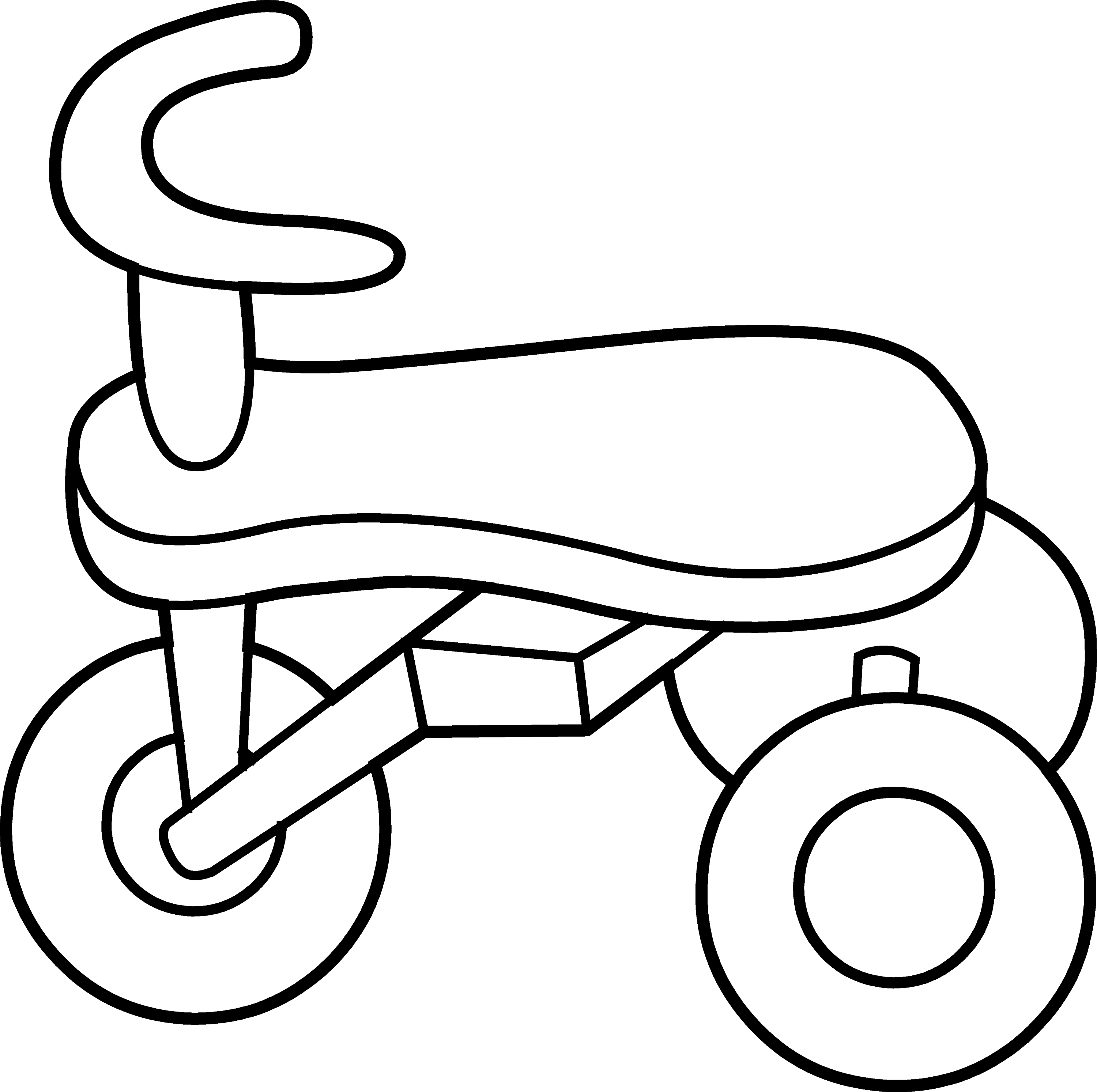 Toddler Tricycle Line Art