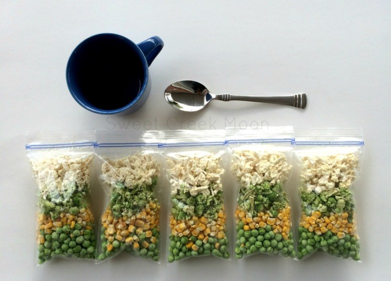 soup bag cup spoon
