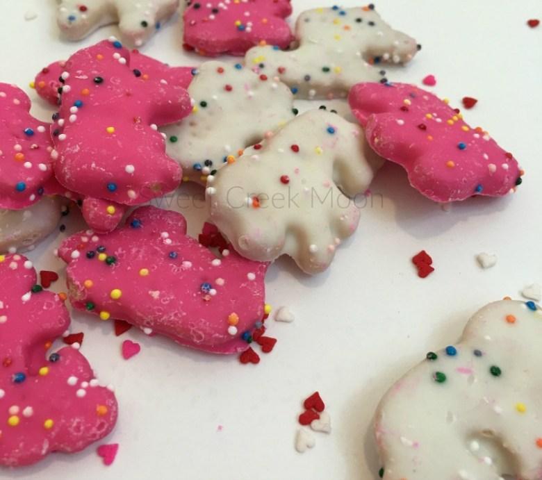 Valentine's Day Bark treat animal crackers