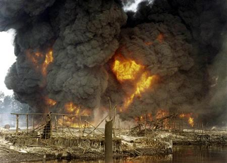 Image result for Nigerian pipeline fire