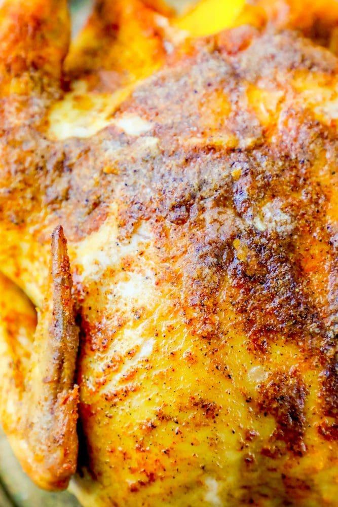 One Pot Easy Cajun Whole Roasted Chicken Recipe