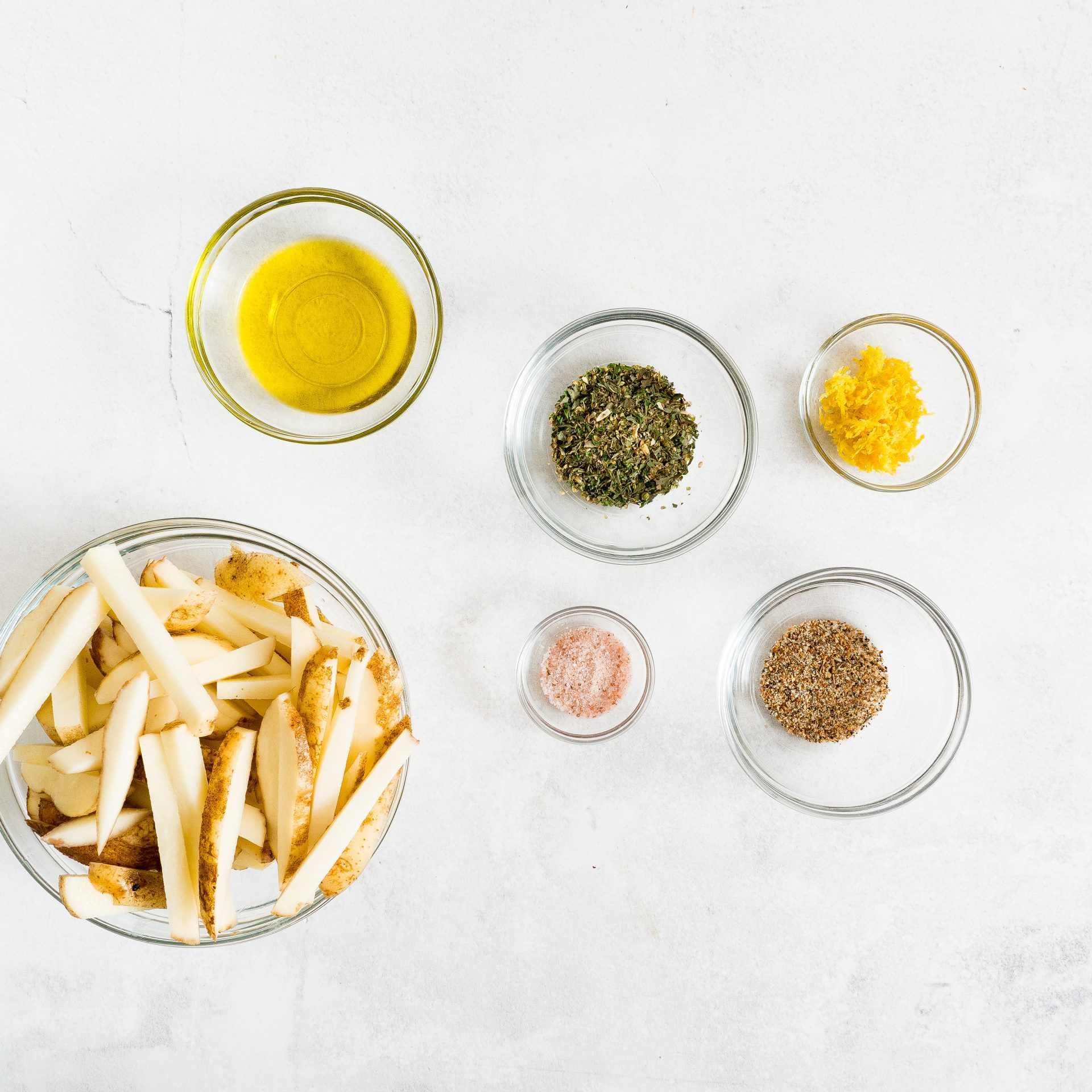 picture of air fryer french fry ingredients