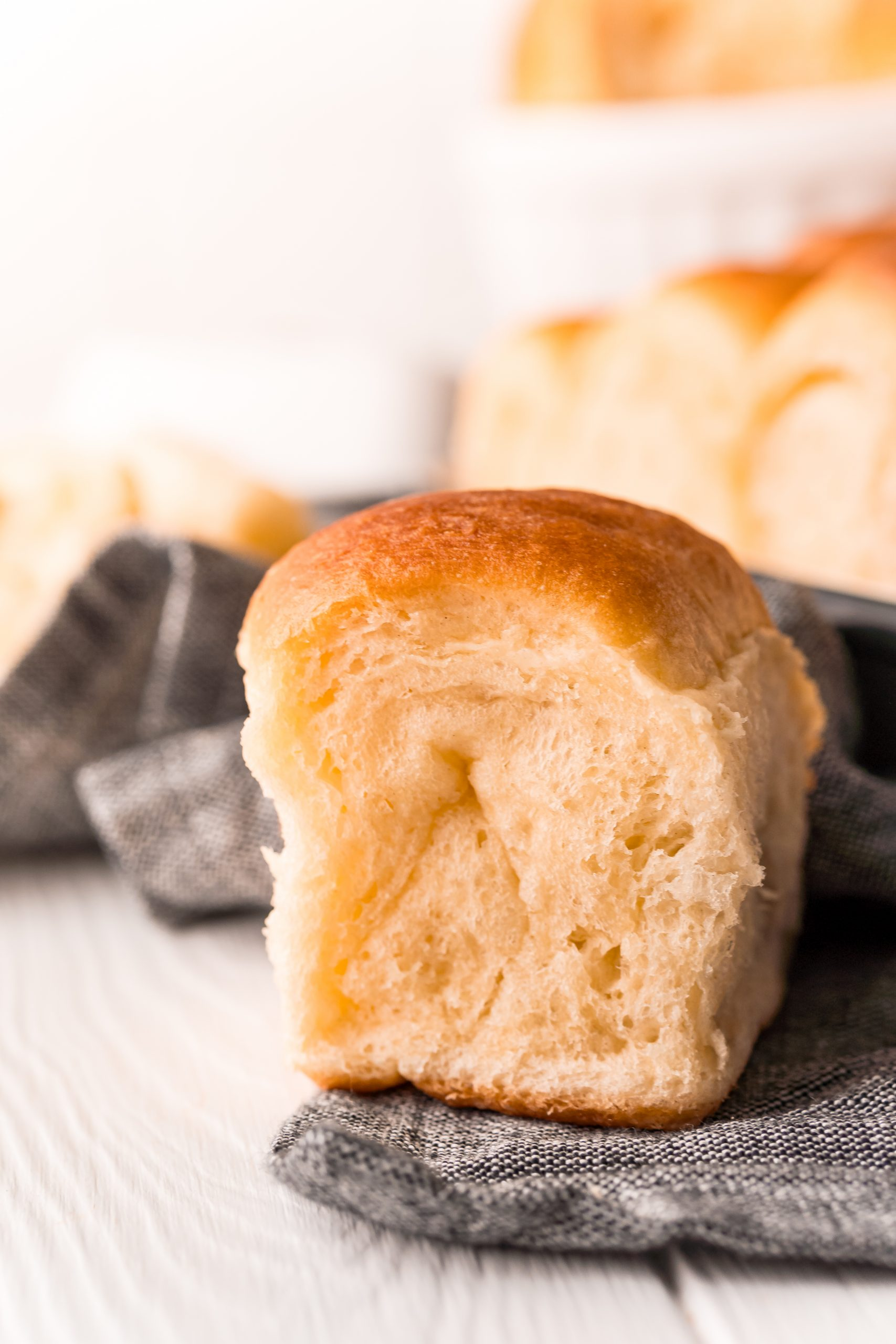 picture of soft dinner rolls on a table