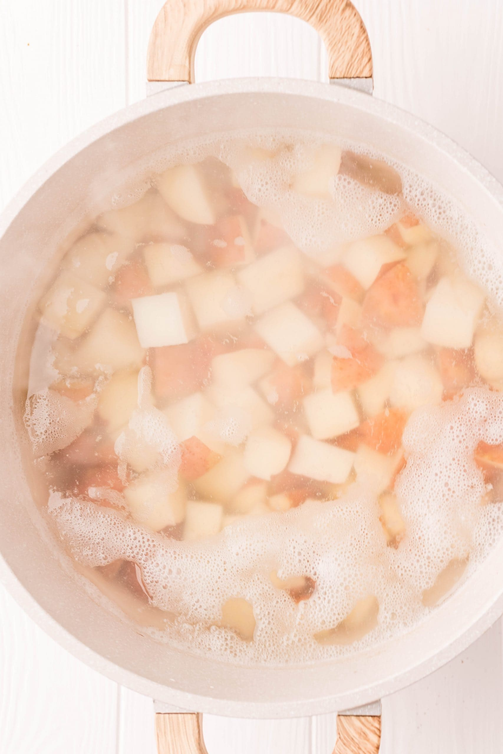 picture of potatoes boiling in water