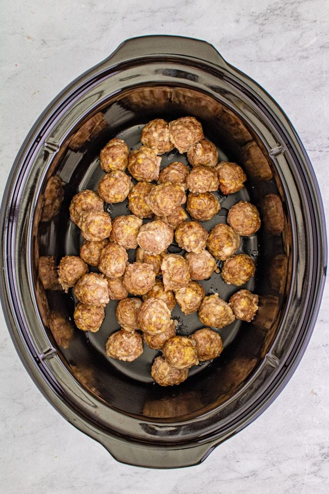 picture of meatballs in a slow cooker