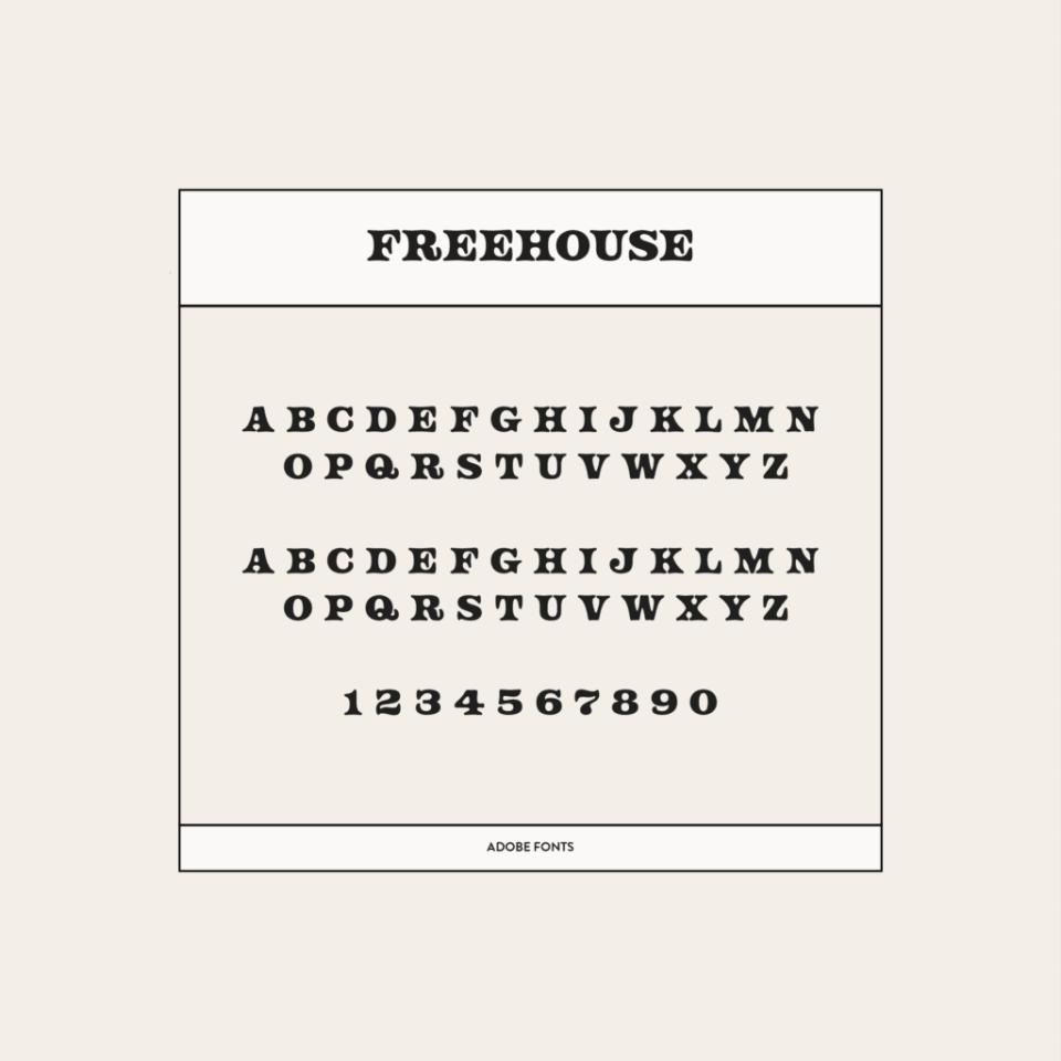 Freehouse font