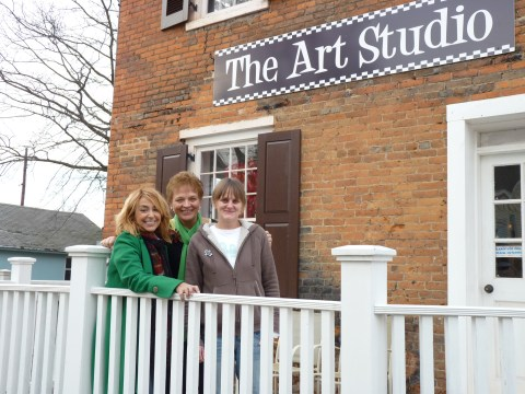 Me with Marge and Laura at The Art Studio Flemington