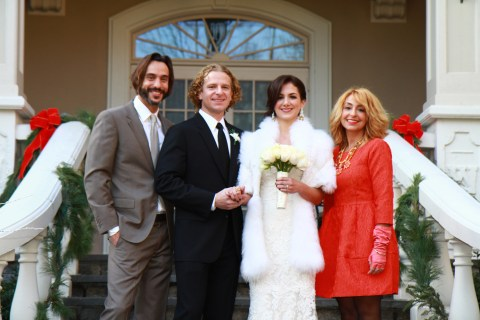 It was the perfect weather for the wrap Nicole picked out- and a gorgeous accent to her dress!