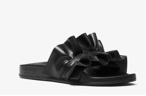 SALE! $26.55 (Reg $59.00) Michael Kors Bella Ruffled Slide