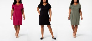 SALE! $15.93 (Reg $54.50) Karen Scott Plus Size Sheath Dress