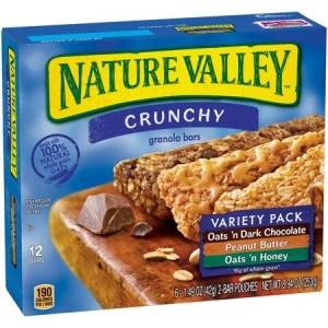 SALE! $3.59 (Reg $6.31) Nature Valley Crunchy Granola Bar Variety Pack