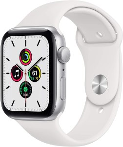 PRICE DROP! $279.99 (Reg $309.00)  New Apple Watch SE (GPS, 44mm) – Silver Aluminum Case with White Sport Band