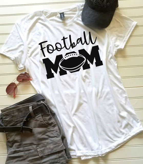 f7a3ab72 Football Mom shirt, Mom shirt, Ladies Tshirt, Womens Tshirt, Gift ...