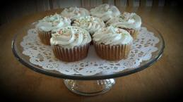 Carrot Cupcakes with Pineapple Cream Cheese Frosting