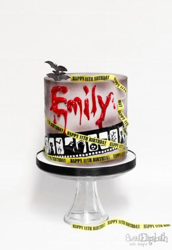 Horror Movie Night Birthday Cake