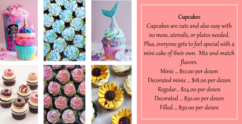 Cupcake prices