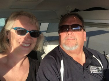 My hubby taking me for my first small plane ride over Walla Walla.
