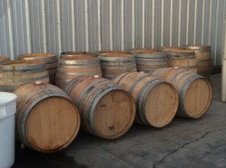 Hydrating wine barrels for use.