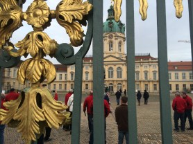 Berlin's Charlottenburg Palace with North American farmers tour observing.