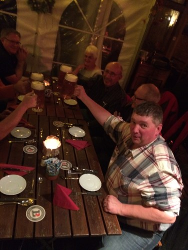Brauhaus Lemke, Berlin, Germany; our last dinner together.