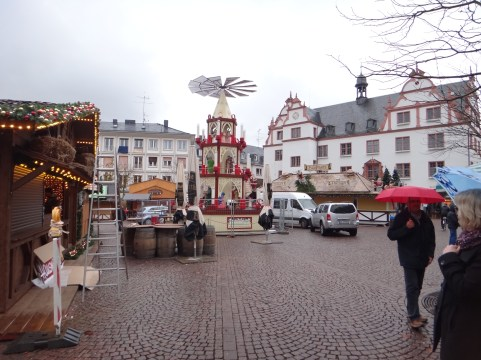 The Darmstadt Christmas Market is taking shape during our final days in Germany.