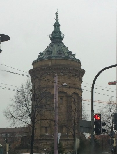 Water tower of Mannheim, Germany.