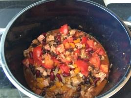 Delicious pot of chili.
