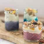 Three jars of Chia Pudding