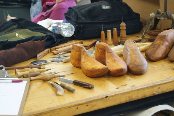 Cordwainers shoemaking class in session