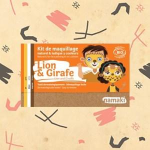 Kit de maquillage lion et Girafe