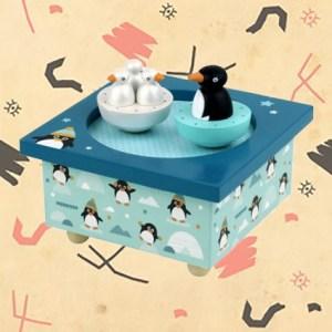 Boite à musique Pingouins magnétiques par Trousselier.