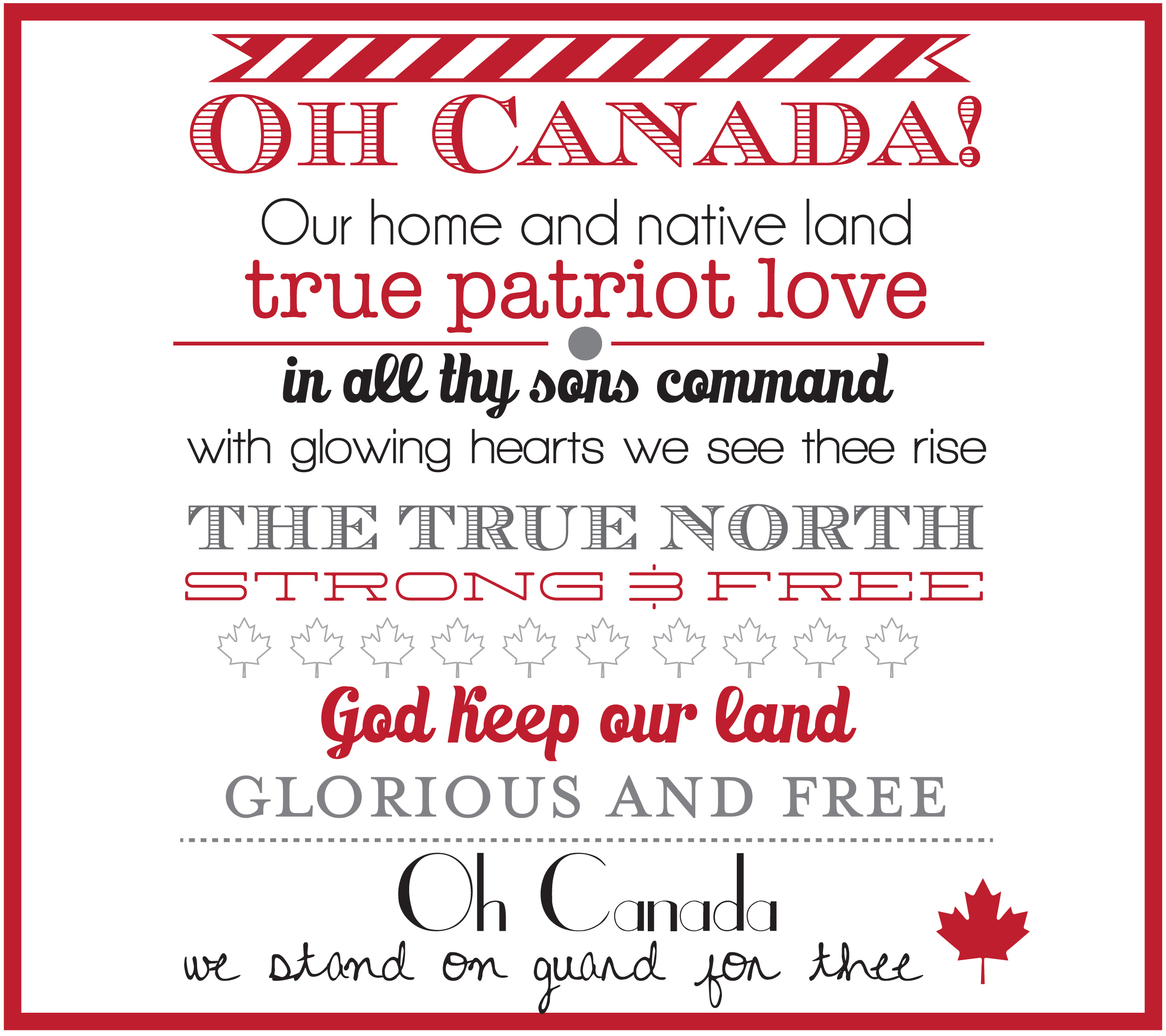 Canada Day Home Decor Printables Amp Instagram Sign Sweet