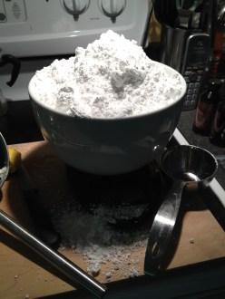 Three pounds of sugar.