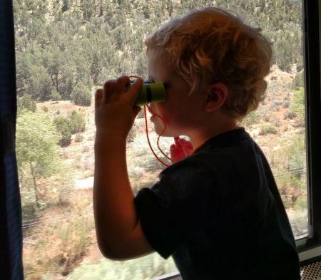 Kid Binoculars for the train ride