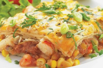 Healthy Shrimp Enchilada Casserole
