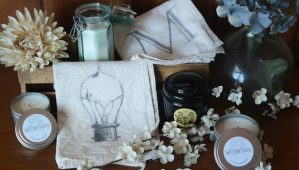 Organic Cotton Tea Towels and Natural Soy Candles