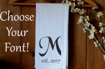 Personalized Wedding Gift Tea Towels
